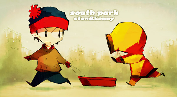Anime/Manga Style South Park Fanart - Stan Marsh, Kenny McCormick