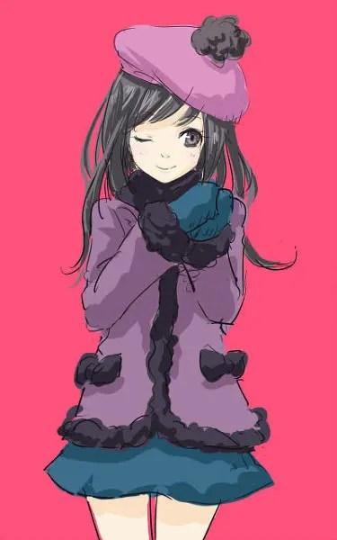 Japanese Anime/Manga Style South Park Fanart - Wendy Testaburger