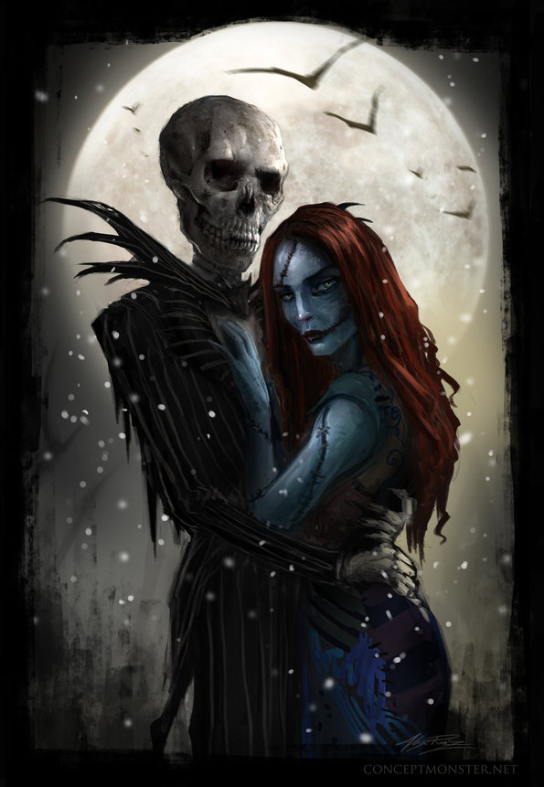 Jack and Sally [Nightmare Before Christmas Fan Art]