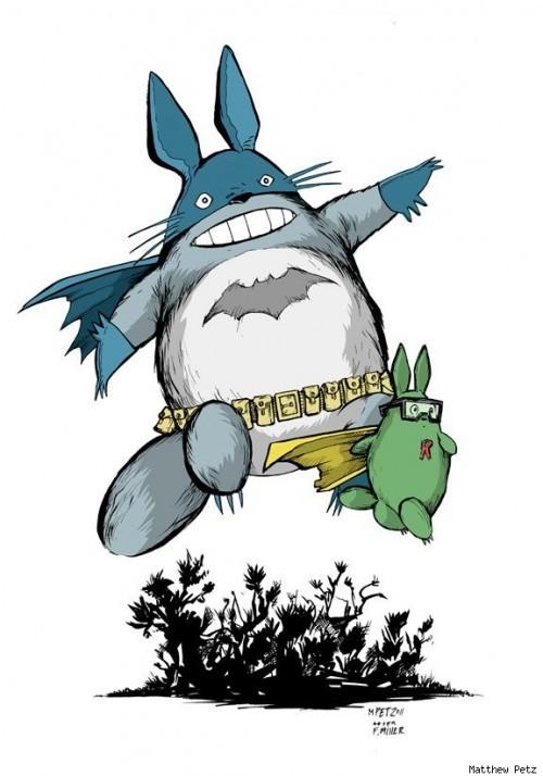 My Neighbor Totoro x Batman Mashup Art - anime, comics, hayao miyazaki