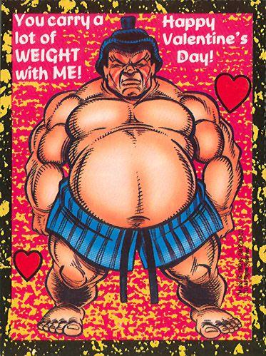 Edmond Honda - Street Fighter 2 Valentine's Day Cards