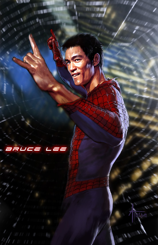 Bruce Lee as Spider-Man