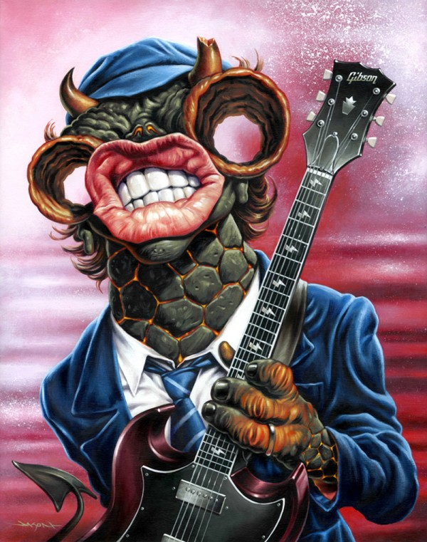 Angus Young monster by Jason Edmiston