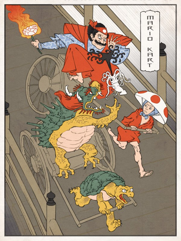 Samurai Mario Kart by Jed Henry