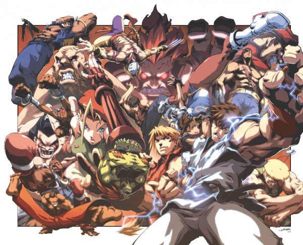 Street Fighter 2 double splash cover by alvin lee