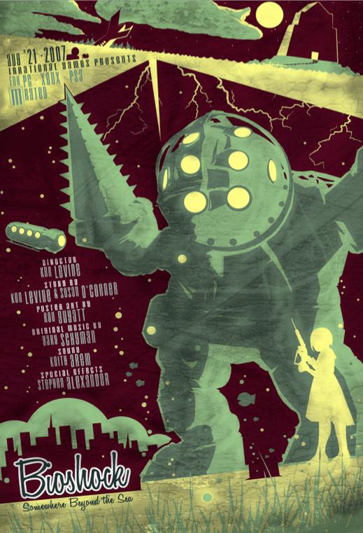 Bioshock Poster by Ron Guyatt