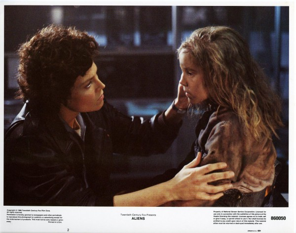 Aliens Lobby Cards - Ripley and Newt