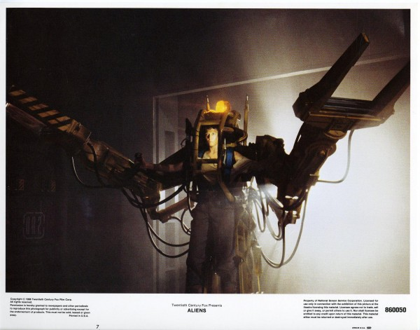 Aliens Lobby Cards - Ripley in the exosuit cargo loader