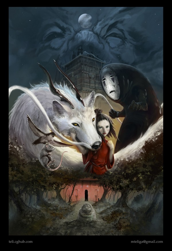 Spirited Away by Michal Teliga - Miyazaki Art