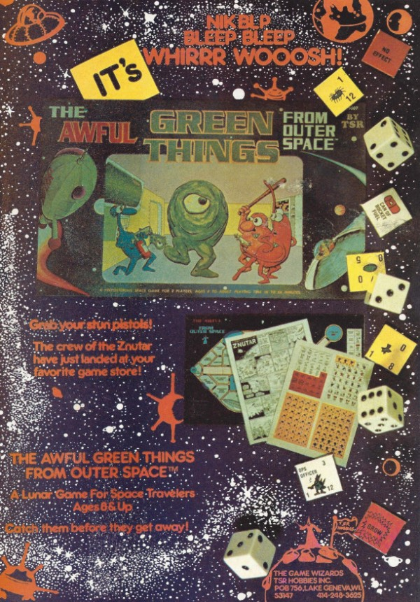 The Awful Green Things From Outer Space - 1980 Board Games