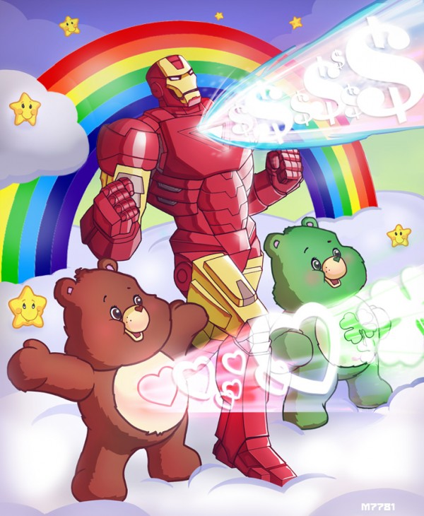 Iron Man x Care Bears by Marco D'Alfonso - mashup fan art