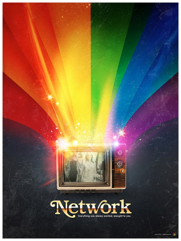 network (1976) Poster by James White