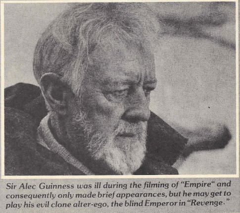 The Emperor is an evil clone alter ego of Obi-wan Kenobi - Fantastic Films Dec 1980