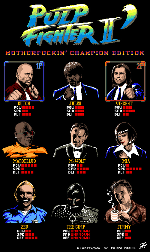 Pulp Fiction x Street Fighter Mashup