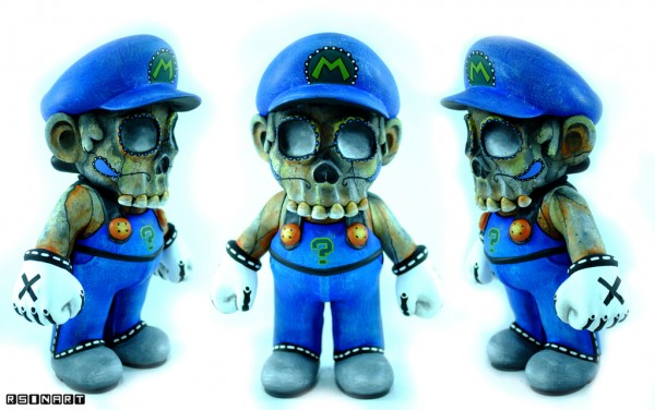 Dead Mario by Rsin Art - Super Mario Bros Vinyl Figures