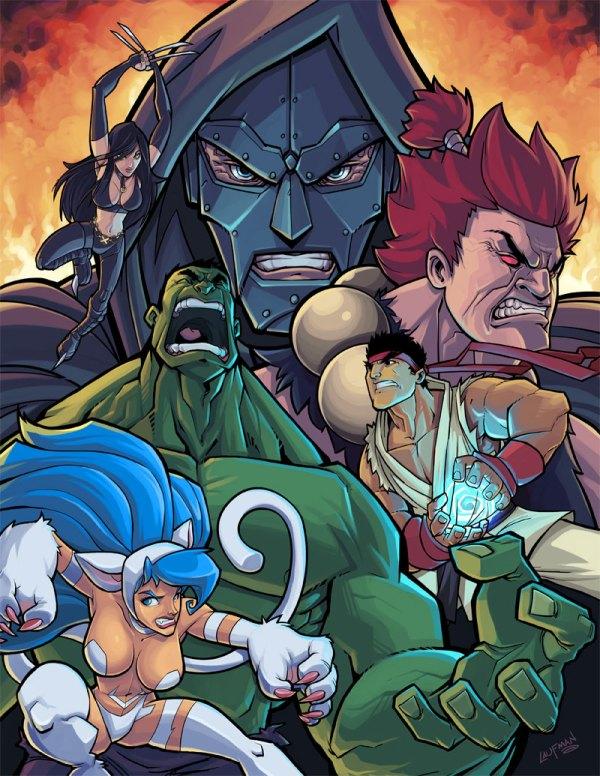 Marvel vs Capcom Pinup by *DerekLaufman
