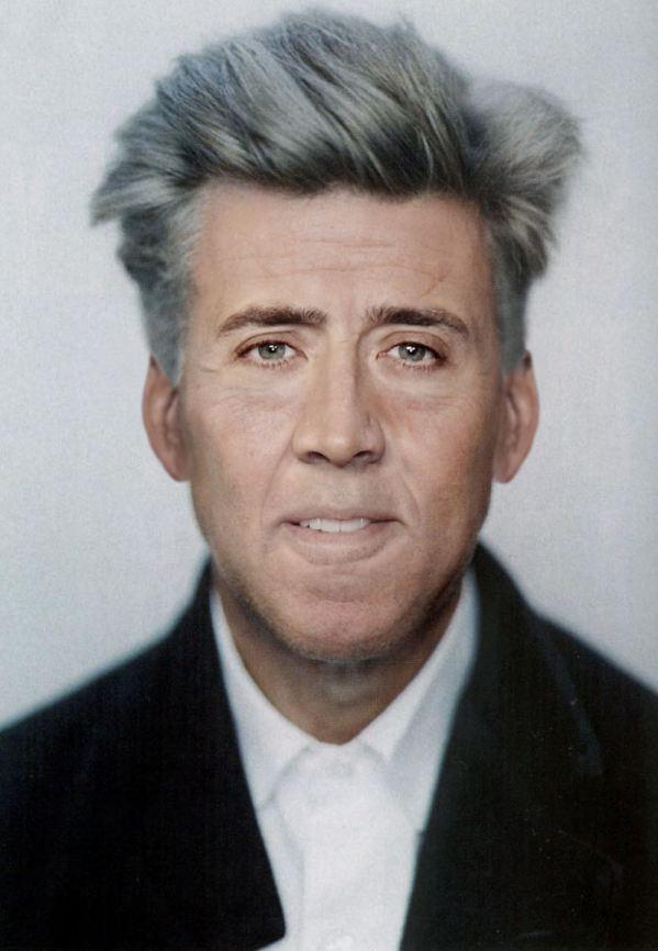 Nicolas Cage x David Lynch - face swap