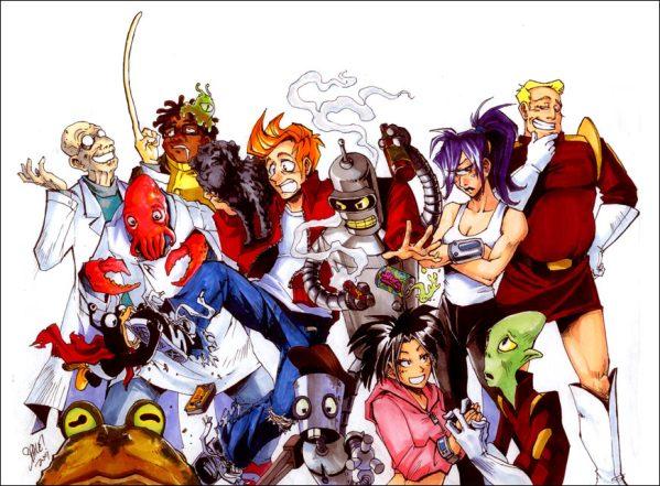 Super Happy Fun Futurama Show by Space Coyote - Anime Manga Style Fanart