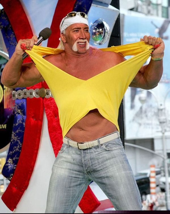 Nicolas Cage x Hulk Hogan - terry hogan, wwf, wwe, wrestling, face swap