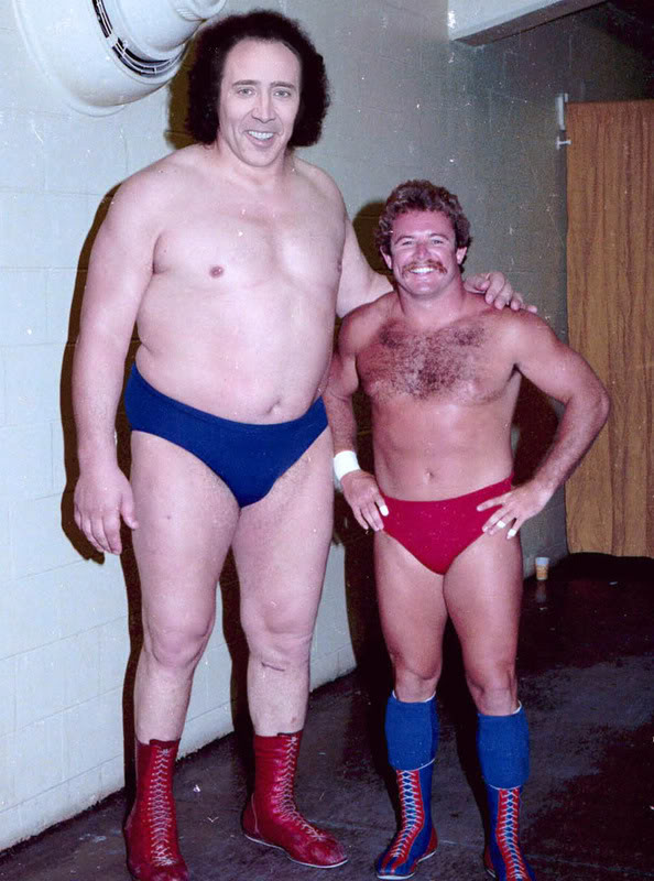 Nicolas Cage x Andre the Giant - wrestling, wwf, face swap