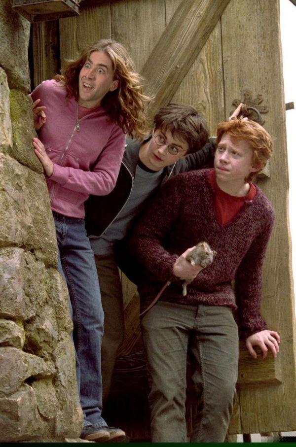Nicolas Cage x Hermione Granger - Harry Potter, Emma Watson, face swap