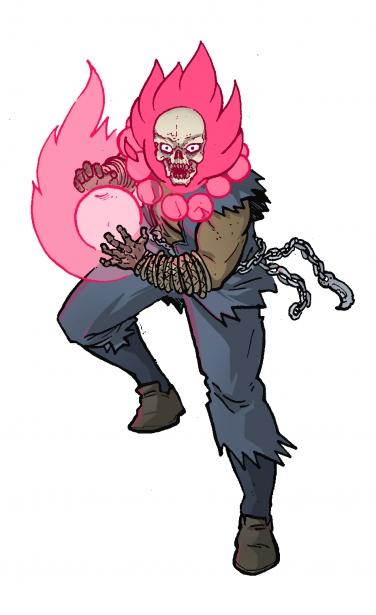 Akuma x Ghost Rider - Marvel vs Capcom Amalgam Universe - gaming fanart