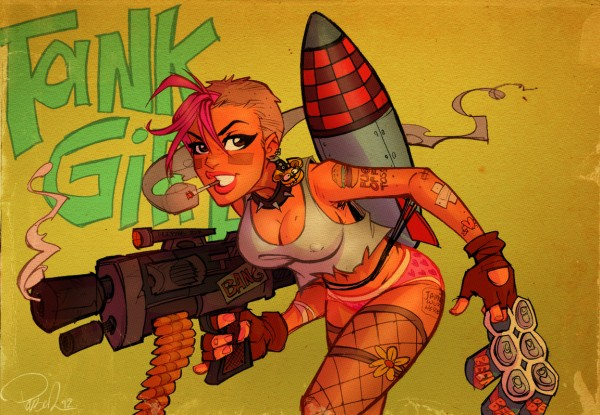 Tank Girl Fan Art by BlitzCadet - Comics, comic books, illustration, fanart