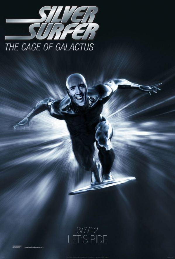 Nicolas Cage x The Silver Surfer - marvel comics, comic books, face swap