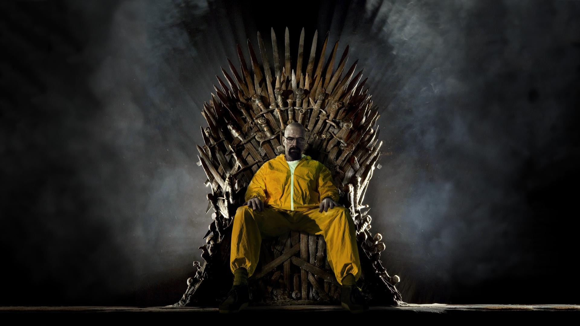 walter white on the iron throne breaking bad wallpaper