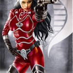 G.I. Joe's The Baroness in red by Greg Horn - Cobra, Art, Illustration