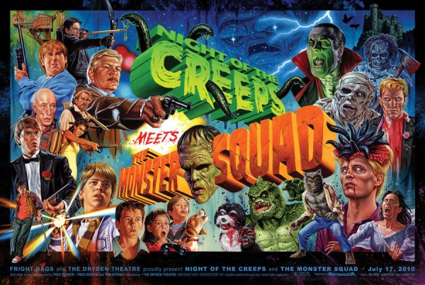 Night of the Creeps Meets The Monster Squad by Jason Edmiston - Fred Dekker, Tom Atkins