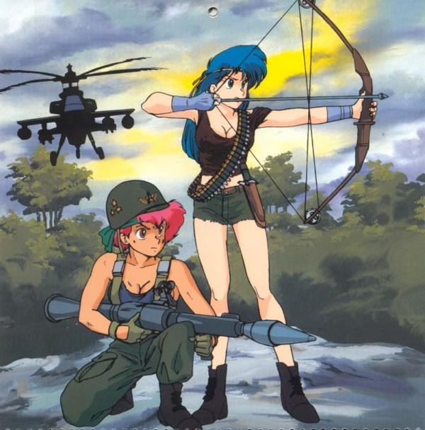 Dirty Pair Hollywood Calendar: Rambo - Kei, Yuri, anime, manga, Hirota Mayumi