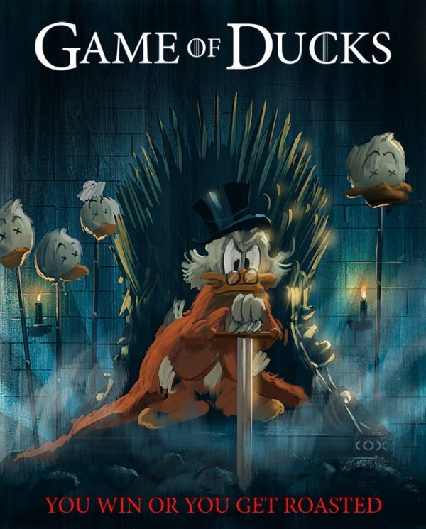 Game of Ducks: Ducktales x Game of Thrones by Daniel Cox - Uncle Scrooge, Disney, Mashup