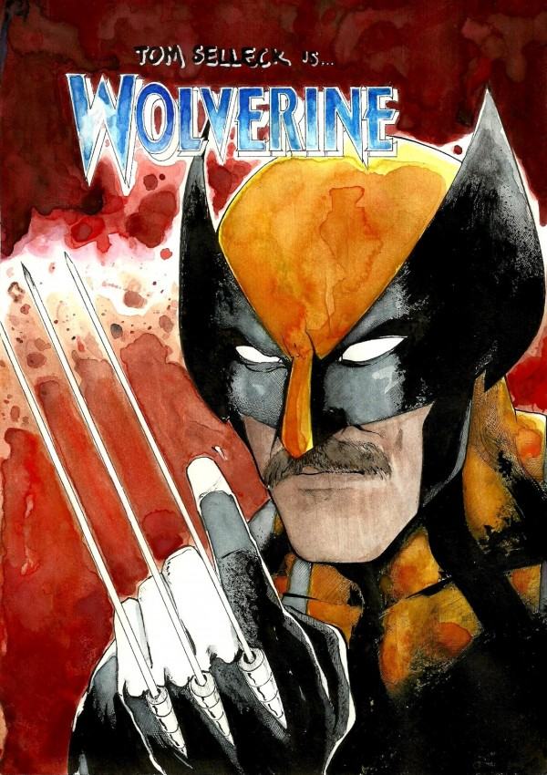 Tom Selleck is Wolverine by Lasse Peuraniemi - Marvel Comics, Comic Books, X-Men