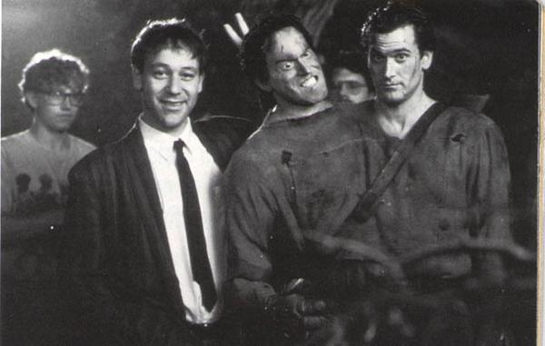 Evil Dead Promotional Photo: Sam Raimi and Bruce Campbell