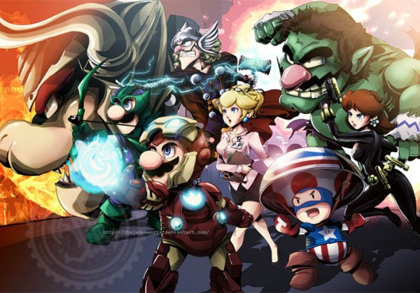 Super Mario Bros x Avengers Mashup - Gaming FanArt