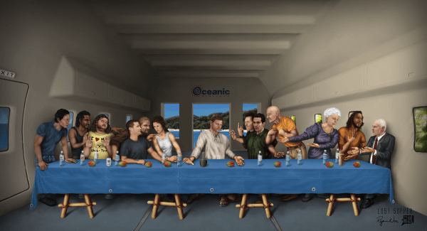 LOST Supper by Ryan Nore - Last Supper Painting, Fanart, Dharma Initiative