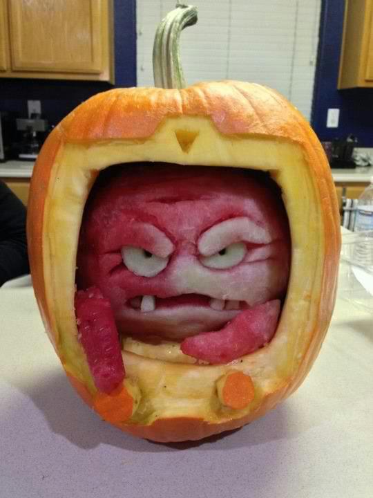 Pumpkin Krang - Halloween, TMNT, Teenage Mutant Ninja Turtles, Jack-O'-Lantern
