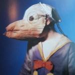 creepy vintage halloween photos - scary kids costumes - Donald Duck, Disney