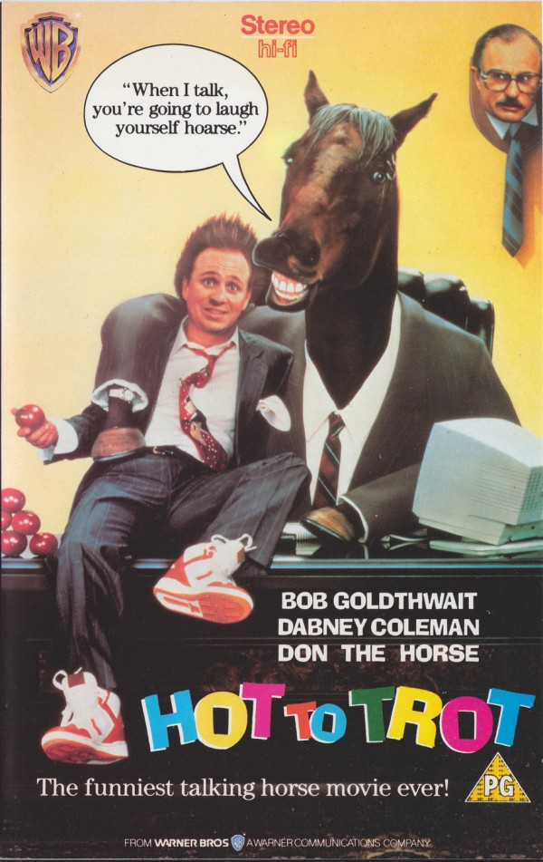Hot to Trot: Bobcat Goldthwait and a Talking Horse, VHS Cover, Movies, Film
