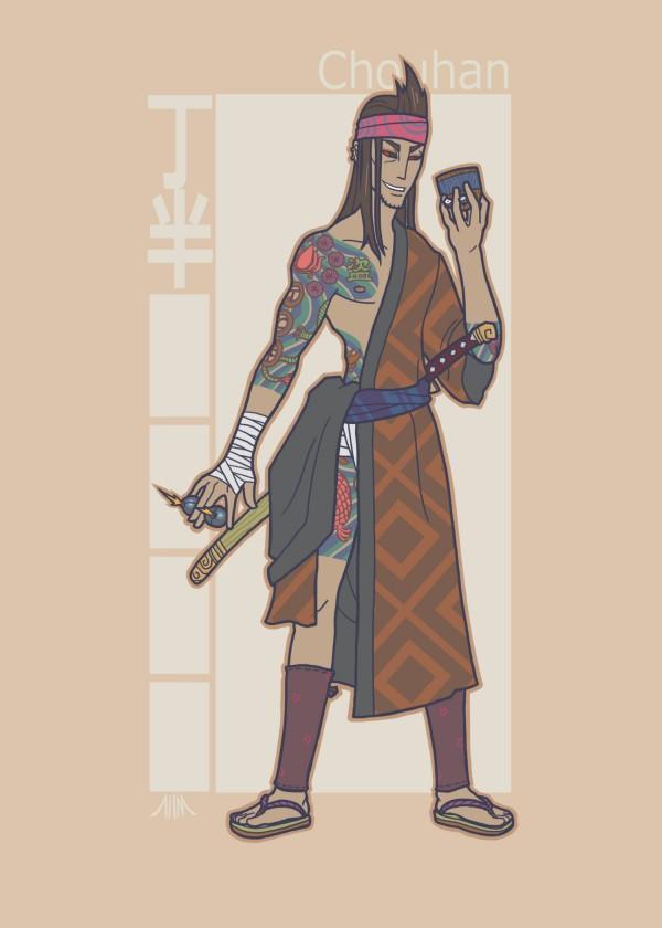 Jidaigeki X-Men - Gambit by genesischant - Samurai Period-Drama