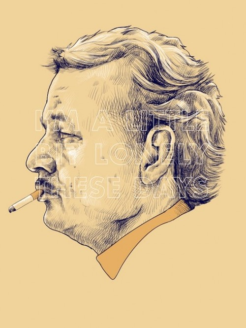 """""""I'm a little bit lonely these days"""" - Bill Murray as Herman Blume in Rushmore by Wes Anderson"""