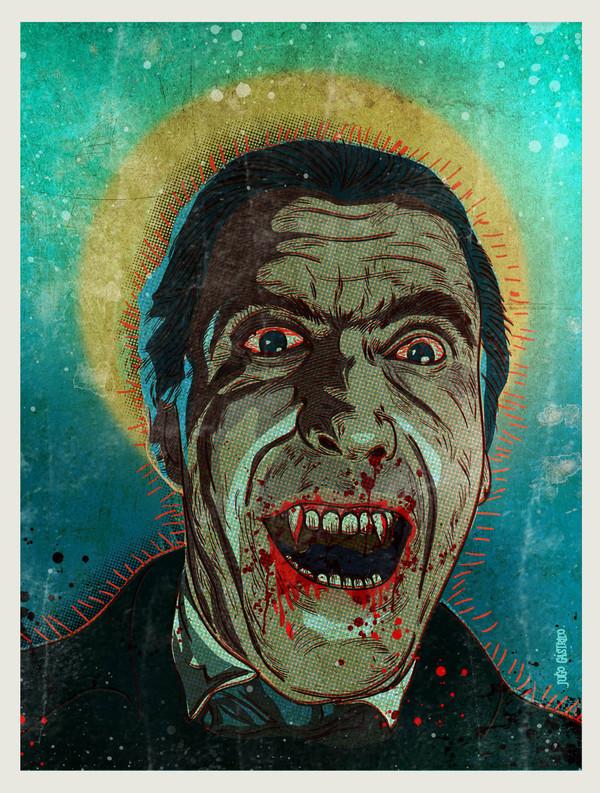 Horror of Dracula - Christopher Lee - Hammer Horror Art