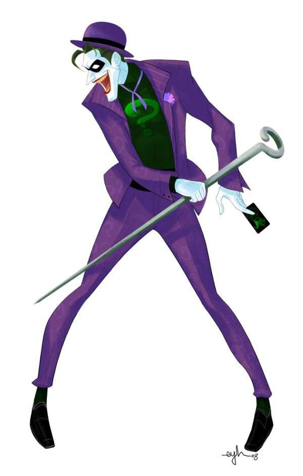 Batman Villain Mashup: JOKERNIGMA by Gingashi - Joker x Riddler