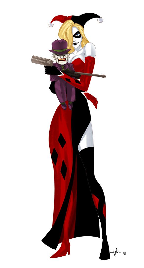 Batman Villain Mashup: PEYTONHARLEY by Gingashi - Harley Quinn x Peyton Riley, Ventriloquist