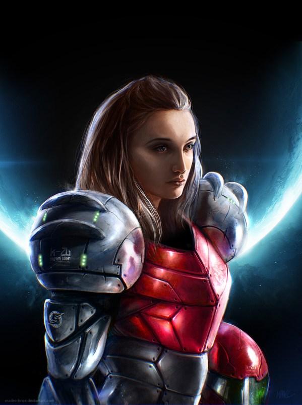 Samus Aran by Madec Brice - Metroid, Nintendo, Gaming Art