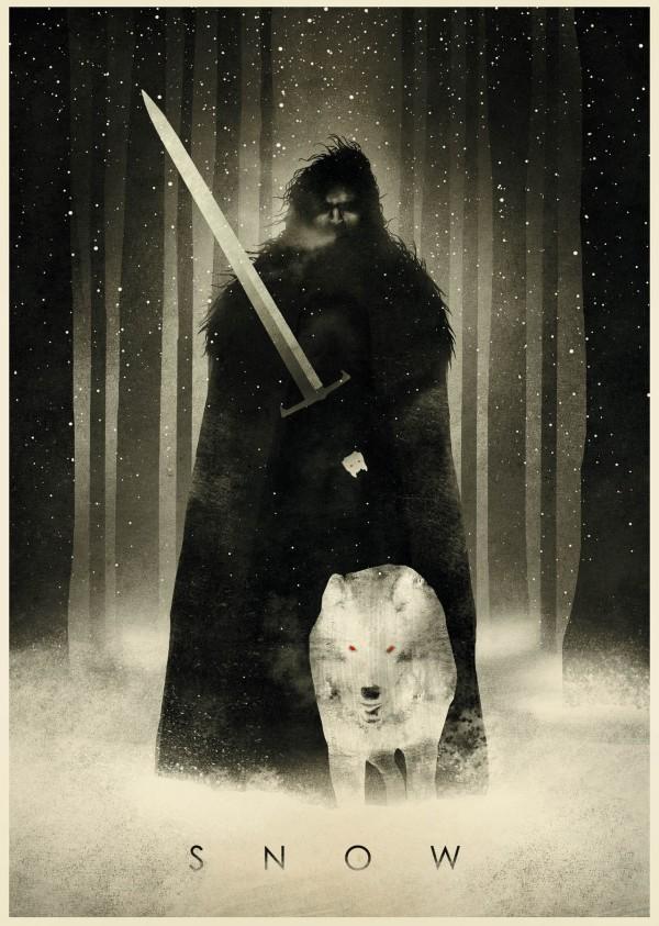 Jon Snow - Game of Thrones Art by Dan Burgess