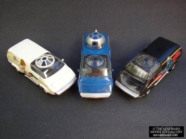 Star Wars Custom Van Model Kits - R2-D2, Darth Vader, Luke Skywalker