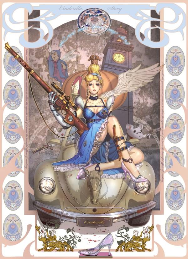 Cinderella Illustration by Park Insu - sci-fi, underwater, alternative, steampunk