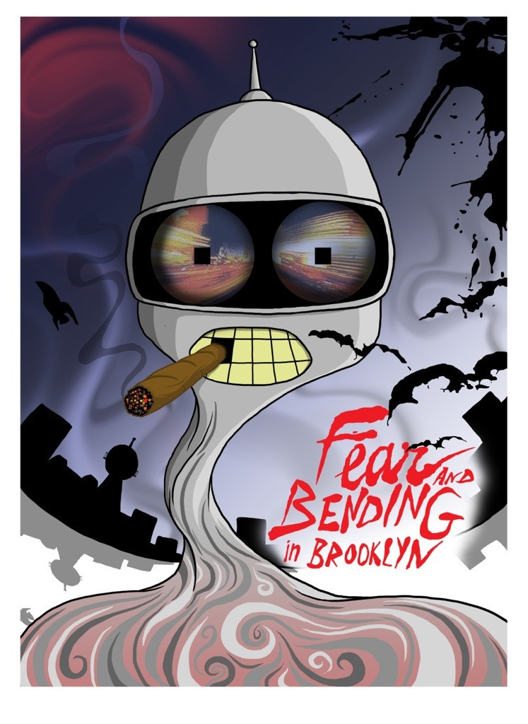 a0179e8c2 Bender - Futurama x Fear and Loathing in Las Vegas. Mashup by Jared Wright